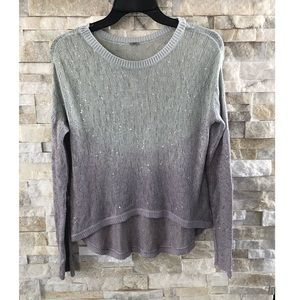 Chann Luu Ombré Sequined Sweater